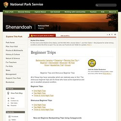 Shenandoah National Park - Backcountry Camping - Beginner Trips (U.S. National Park Service)