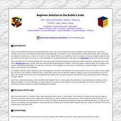 Beginner Solution to the Rubik's Cube