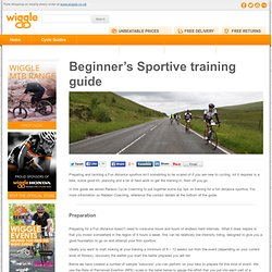 Beginner's Sportive training guide