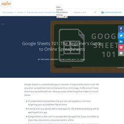 Google Sheets 101: The Beginner's Guide to Online Spreadsheets - The Ultimate Guide to Google Sheets