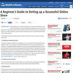 A Beginner's Guide to Setting up a Successful Online Store