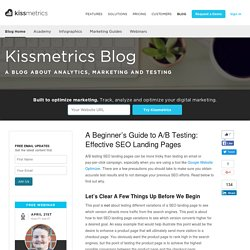 A Beginner's Guide to A/B Testing: Effective SEO Landing Pages