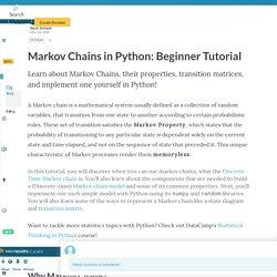 Python Markov Chains Beginner Tutorial (article)