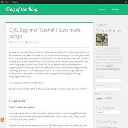 GML Beginner Tutorial 1 (Lets make pong!)