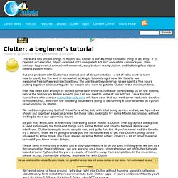 Clutter: a beginner's tutorial