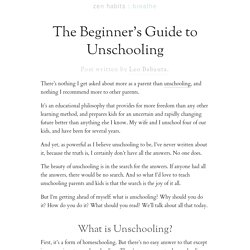 » The Beginner's Guide to Unschooling