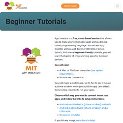 Beginner Video Tutorials
