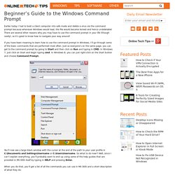 Beginner's Guide to the Windows Command Prompt