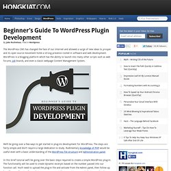 Beginner's Guide to Wordpress Plugin Development