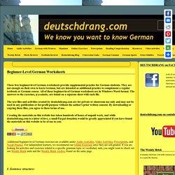 Beginner-level German worksheets