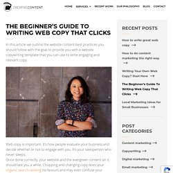 The Beginner's Guide To Writing Web Copy That Clicks