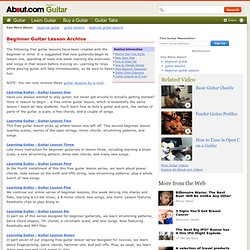 Guitar Lessons for Beginners Archive - Free Guitar Lessons Online - Acoustic and Electric Guitar Lessons