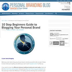 10 Step Beginners Guide to Blogging Your Personal Brand