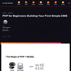 PHP for Beginners: Building Your First Simple CMS