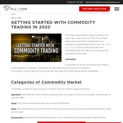 Beginners guide to commodity trading and how to get started
