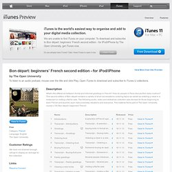 Bon départ: beginners' French second edition - for iPod/iPhone - Download free content from The Open University on iTunes
