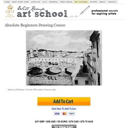 Beginners Drawing course, how to draw videos with professional artist Will Kemp