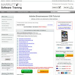 Beginners Adobe Dreamweaver CS6 Tutorial - Video Training CD/DVD