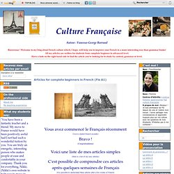 Articles for complete beginners in French (Fle A1)