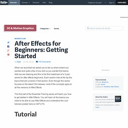 After Effects for Beginners: Getting Started