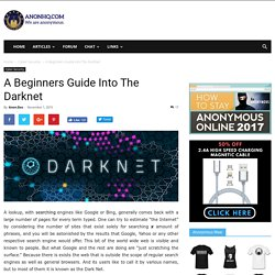 A Beginners Guide Into The Darknet AnonHQ
