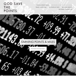 Beginners Guide To Points & Miles — God Save the Points