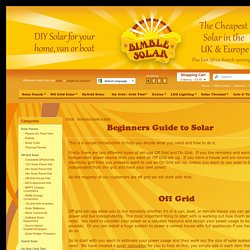 Beginners Guide to Solar