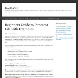 Beginners guide to .htaccess file with examples