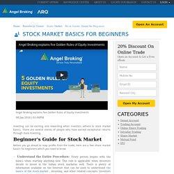 Share Market Basics for Beginners, Stock Investment Guide - Angel Broking
