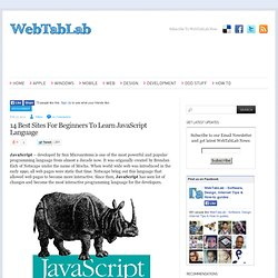 14 Best Sites For Beginners To Learn JavaScript Language