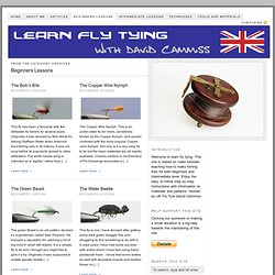 Beginners Lessons — Learn Fly Tying
