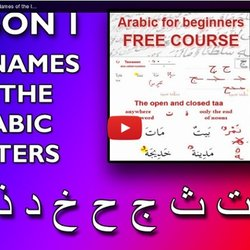 Learn the Arabic Alphabet #1 Names of the letters