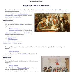 Beginners Guide to Marxism by Marxists Internet Archive 2009