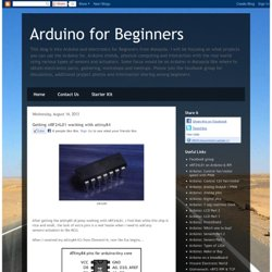 Arduino for Beginners: Getting nRF24L01 working with attiny84