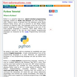 Python Tutorial for Beginners and professionals