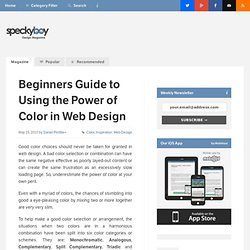 Beginners Guide to Using the Power of Color in Web Design - Speckyboy Web Design Magazine