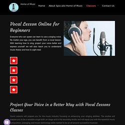 Vocal Lessons for Beginners, Online Vocal Classes, Music Classes - Spiccatohomeofmusic