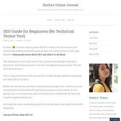 SEO Guide for Beginners (No Technical Terms! Yes!)