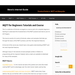 MQTT for Beginners Tutorials and Course