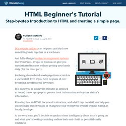 HTML Tutorial for Beginners - WebsiteSetup.org
