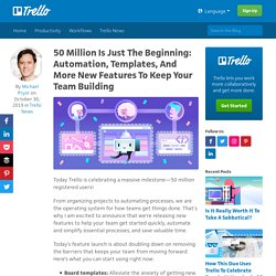 50 Million Is Just The Beginning: Automation, Templates, And More New Features To Keep Your Team Building