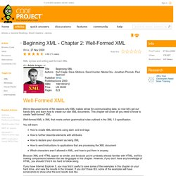 Beginning XML - Chapter 2: Well-Formed XML