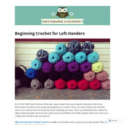 Beginning Crochet for Left-Handers