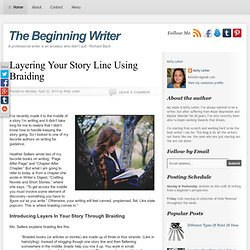 The Beginning Writer: Layering Your Story Line Using Braiding