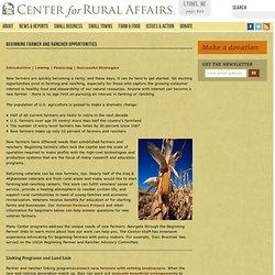 Beginning Farmer and Rancher Opportunities | Center for Rural Affairs