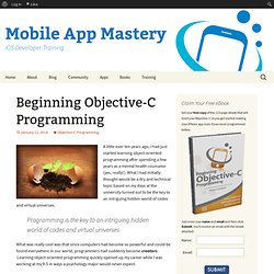 Beginning Objective-C Programming