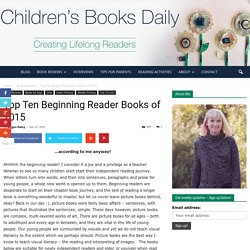 Top Ten Beginning Reader Books of 2015