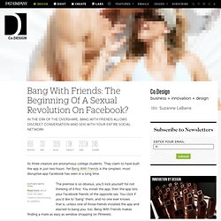 Bang With Friends: The Beginning Of A Sexual Revolution On Facebook?