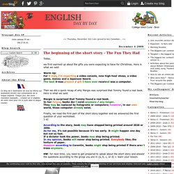 The beginning of the short story - The Fun They Had - English Day by Day