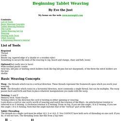 Beginning Tablet Weaving